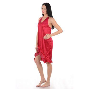 Klamotten Satin Plain Nightwear - Red - YY29
