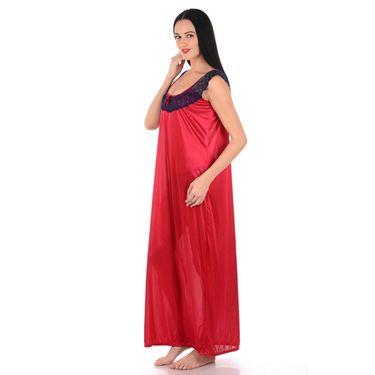 Klamotten Satin Plain Nightwear - Red - YY38