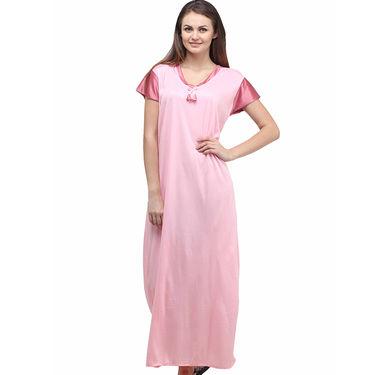 Klamotten Cotton Plain Nightwear - Pink - YY69