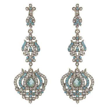 Kriaa Austrian Diamond Earrings - Blue _ 1301431