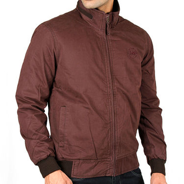 Lee Full Sleeves Cotton Jacket_Lee03 - Brown