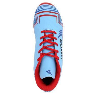 Mayor Sky Blue - Red Casilla Football Studs - 7
