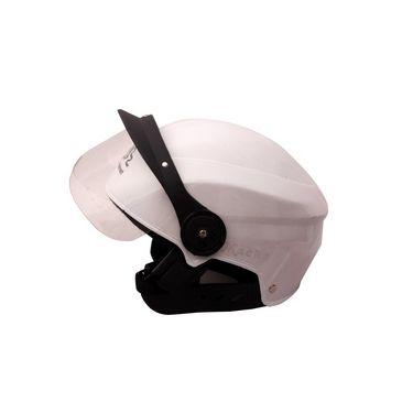 Autofurnish (MH-803) Stylo Open Face Helmet Macho (White)-MH-803
