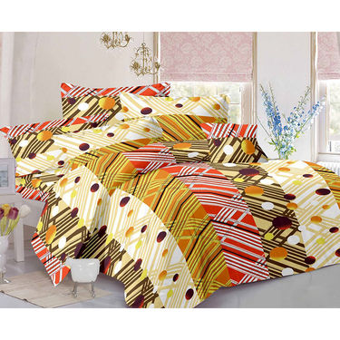 Valtellina Double Bed Sheet with 2 Pillow Cover-MO-210