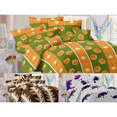 Valtellina Set of 3 Double Bedsheet With 6 Pillow Cover.-MO-216