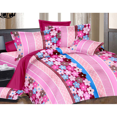 Valtellina Double Bed Sheet with 2 Pillow Cover-MO-240