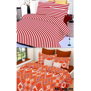 Set of 2 Valtellina Double Bedsheet With 4 Pillow Cover-MO003012
