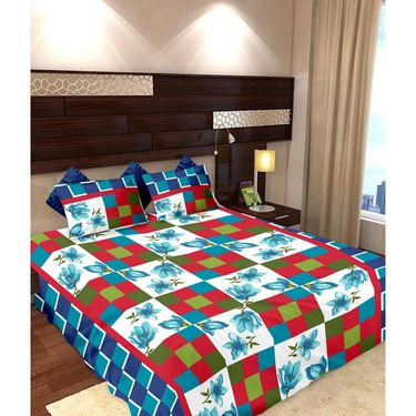 Storyathome Cotton 2 Double Bedsheet With 4 Pillow Cover-MP_1201-1212