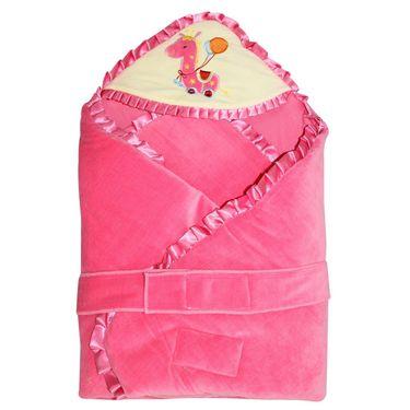 Wonderkids Pink Giraffe Baby Carry Nest