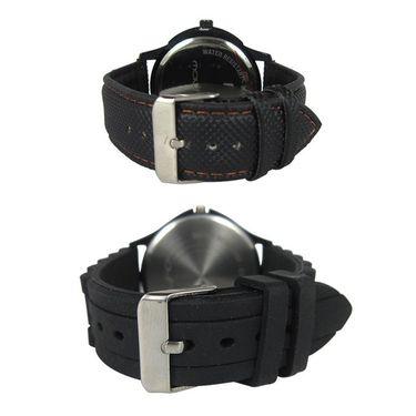 Pack of 2 Mayhem Analog Round Dial Watches_Ma2908 - Black