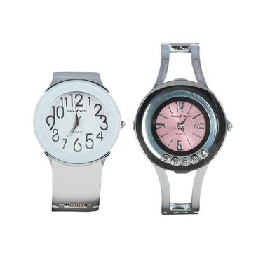 Pack of 2 Mayhem Analog Round Dial Watches_Ma2916 - White & Pink