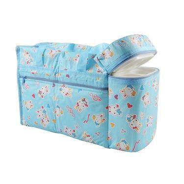 Ole Baby Premium Bunny Diaper Bag With Warmer Cyan_OB-DBWW-B043