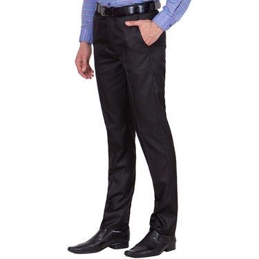 Tiger Grid Cotton Formal Trouser For Men_Md001 - Black