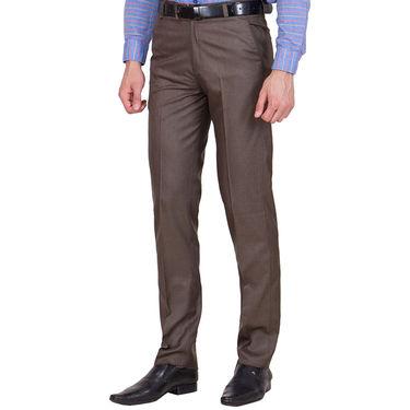 Tiger Grid Pack of 2 Cotton Formal Trouser For Men_Md017