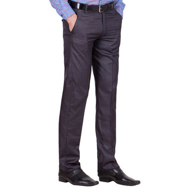 Tiger Grid Pack of 2 Cotton Formal Trouser For Men_Md028