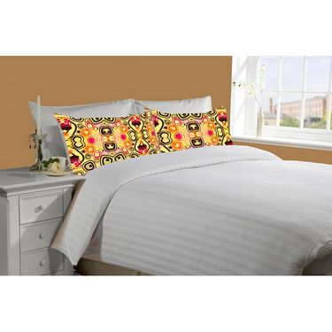 Mesleep White Double Bed Sheet With 2 Pillow Covers- SS-Pillow-02-06