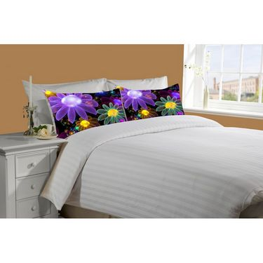 Mesleep White Double Bed Sheet With 2 Pillow Covers- SS-Pillow-02-36