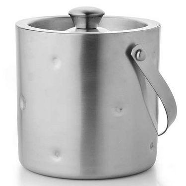 Mosaic Dimple Steel Ice Bucket Big - Silver