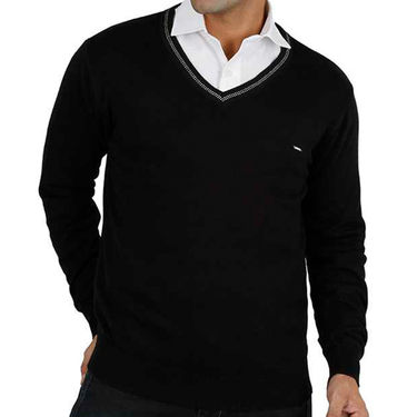 Mufti V Neck Men Sweater_Mufti01 - Black