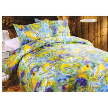 Set of 5 Multicolor Poly Cotton Double Bedsheet with 10 Pillow Covers -NLD-12-01_02_04_06_10