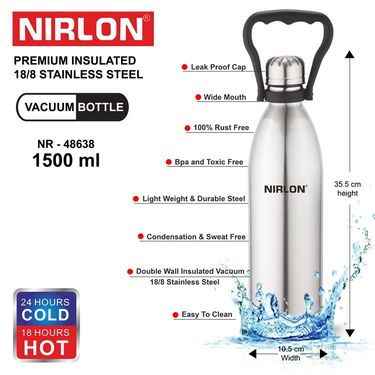 Nirlon  Stainless Steel Vaccum Bottle 1500 ml_NR48638