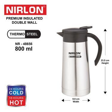 Nirlon  Stainless Steel Tea & Coffee Pot 800 ml_NR48656