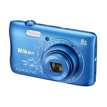 Nikon COOLPIX S3700 Compact Digital Camera - Blue