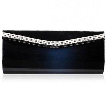 Oleva PU Leather Clutches hi73_Black
