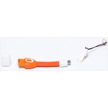 Combo of Flashmob 7 Port Usb Hub and Flashmob Smiley Alien Otg Cable With Led - Orange