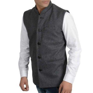 Branded Regular Fit Cotton Waist Coat_Os29 - Grey
