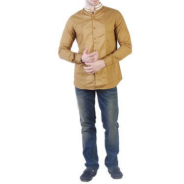Branded Slim Fit Cotton Shirt_Os37 - Mustard