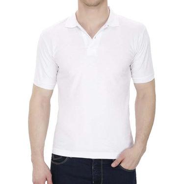 Oh Fish Plain Polo Neck Tshirt_P1wht - White