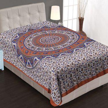 8 Cotton Single Bedsheets with Jaipuri Sanganeri Print-PF101S