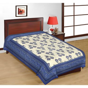 Priya Fashions Cotton 4 Double 4 Single Bedsheets With Out Pillow Covers-PF102D4S4B