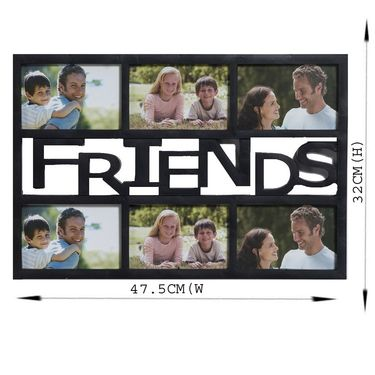Black Beautiful Collage Photoframe for Friends