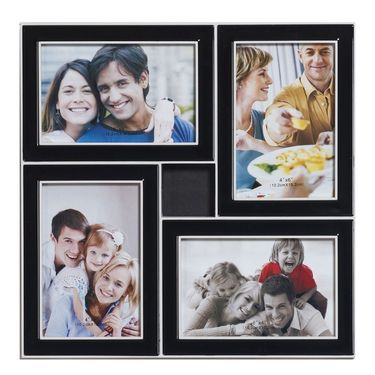 Black Stylish 4 Pictures Collage Phot Frame