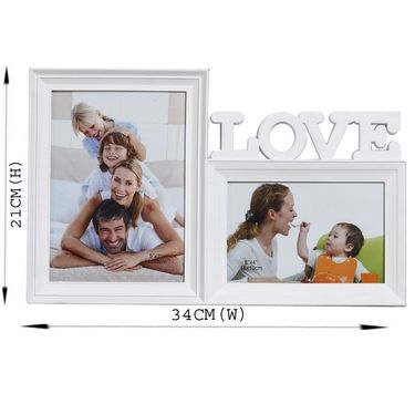 White Blossom 2 Pictures Collage Photo Frame
