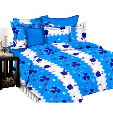 Set of 2 PARAS FASHIONS Cotton Printed Double Bed sheets With 4 Pillow covers-PFJDBCOM2020