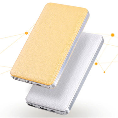 Vox 10000 MAh Power Bank With Double USB And Leather Body- PK55