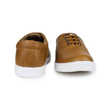 Pede Milan Synthetic Leather Tan Casual Shoes -pde35