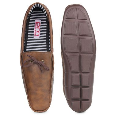 Pede Milan PU Coffee Loafers -pde02