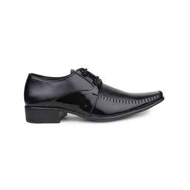 Pede Milan Synthetic Leather Black Formal Shoes -pde26