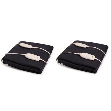 Set of 2 Expressions Polar Fleece Electric Double Blankets-POLAR06DB