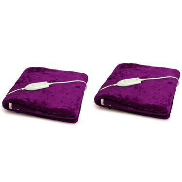 Set of 2 Expressions Mink Electric Single Blankets-POLAR102SB