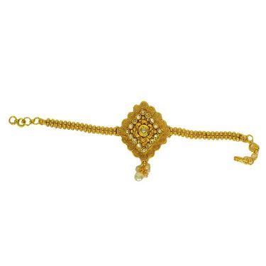 Pourni Stylish Brass Bajuband_Prbb05 - Golden