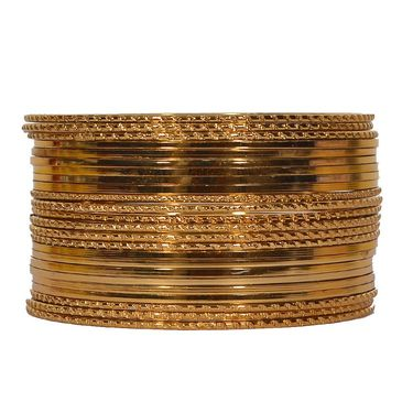 Pack of 24 Pourni Bangles Set_PRBG15 - Golden
