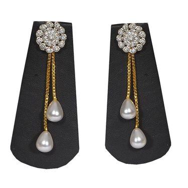 Pourni Stylish Brass Earring_Prer02 - Golden