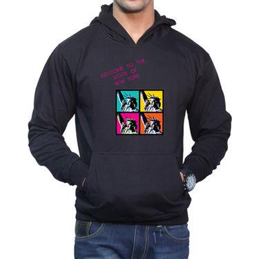 Effit Printed Regular Fit Full Sleeves Cotton Hoddies for Men - Black_PTLHODY0010