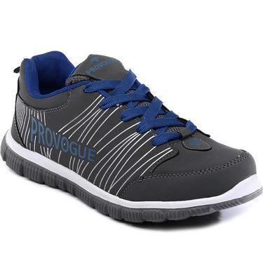 Provogue Grey & Blue Sports Shoes -Pv1063