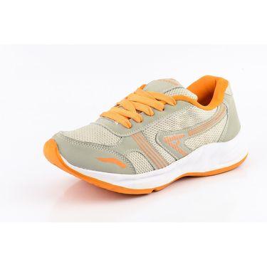 Provogue Mesh Sport Shoes Pv1095-Lt.Grey & Orange-40
